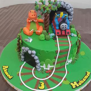 Twin brothers b day cake