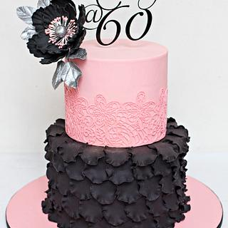 Pink and Black Cake