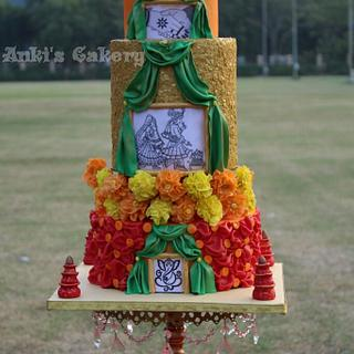 Indian traditional wedding cake