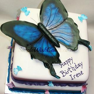 Large Butterfly Cake