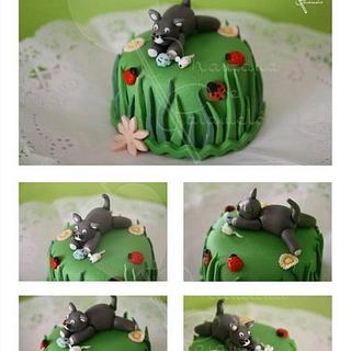 Cat Mini Cake - Cake by Yuri