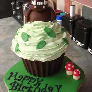 Gruffalo Giant Cupcake