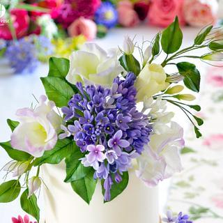 Lilac, Lisianthus and Freesia