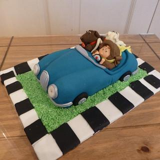 Our family car birthday cake!
