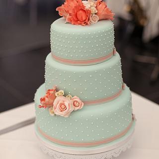 Duck Egg Blue Cake - Cake by BeaisforBaking