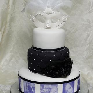 Mask wedding cake