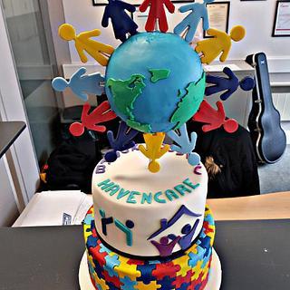 World autism cake
