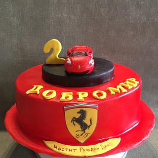 Ferrari cake for boy