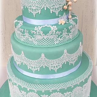 Tiffany rose cake