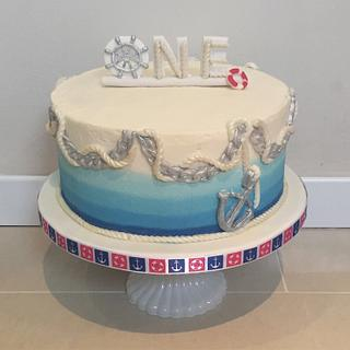 Nautical Smash Cake - Cake by Charlotte