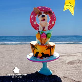 I love summer (Sweet Summer Collaboration) - Cake by Marielly Parra
