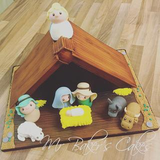 Away in a Manger - Christmas Cake - Cake by Mr Baker's Cakes