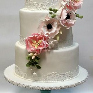 FLORAL WEDDINGCAKE - Cake by MELBISES