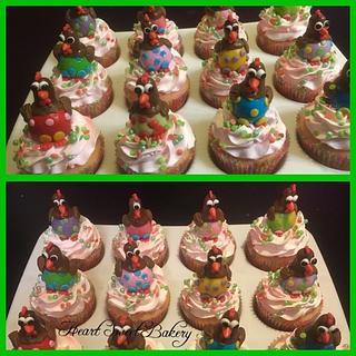 Easter chickens cupcakes