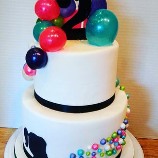 Gelatin Bubble Birthday Cake