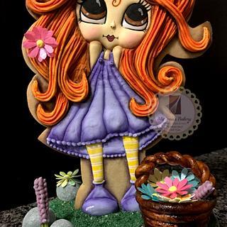 """""""La niña de las flores 💐 """"  - Cake by Mariana Lopez Figueroa"""