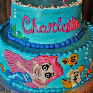 Bubble Guppy cake in buttercream