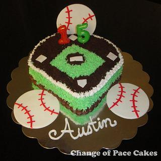 Austin's Baseball Birthday Cake
