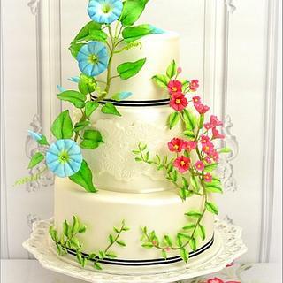 Ipomea Wedding Cake