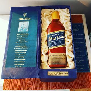 Johnnie Walker Blue Label Birthday Cake