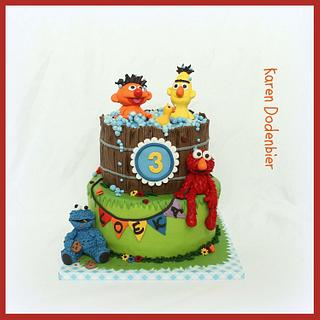Ernie and Bert birthday cake.