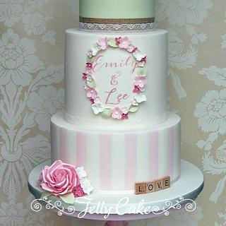Teacup and Roses Wedding Cake