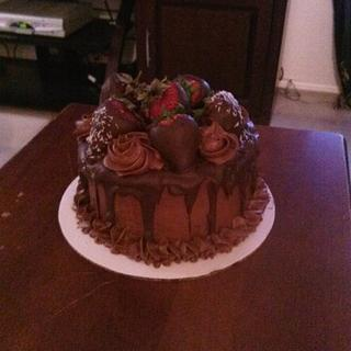 A very chocolate Father's Day - Cake by Sharon Cooper