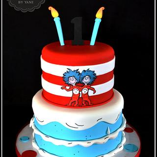 Thing 1 and Thing 2 Cake!