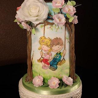 first love, eternal love - Cake by Gabriela Rüscher