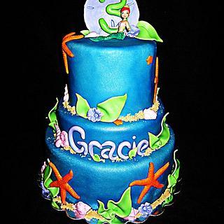 Little Mermaid Birthday Cake - Cake by Tyla Mann