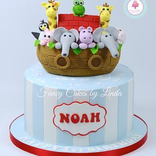 Noah's Ark Children's Novelty Birthday Cake