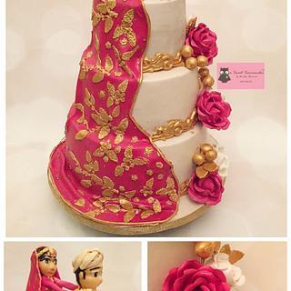 Indian wedding Cake  - Cake by Urvashi Shivnani