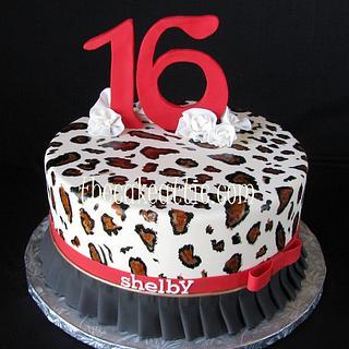 sweet 16 leopard print