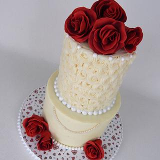 "Wedding Cake ... ""Cannoli N' Roses"""