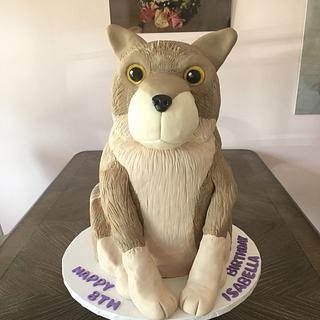 3-D Wolf Cake