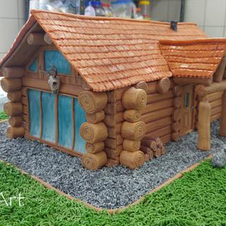 Loghouse cake