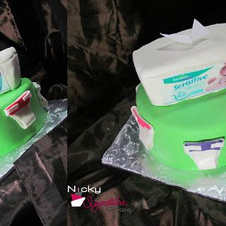 Diaper and Wipes Cake