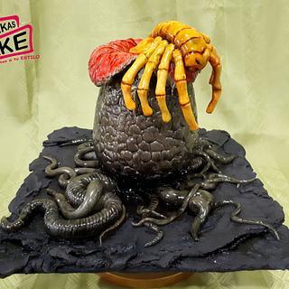 Alien Facehugger Cake - CakeFlix Collab