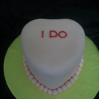 Conversation Heart Wedding Cake - Cake by caymancake