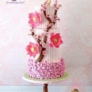 YASMINE's Fairyland Garden - PRETTY PINK for YASMINE Collaboration - Cake by Violet - The Violet Cake Shop™