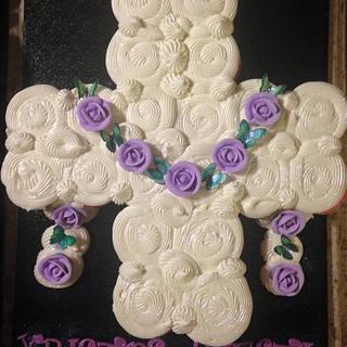Easter cross cupcake cake