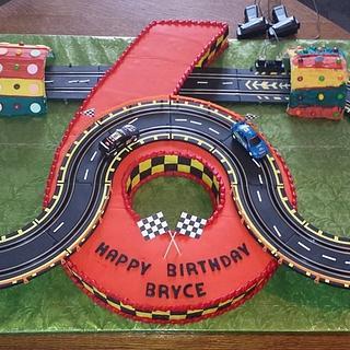Big 6 Race Car Cake