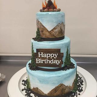 Outdoorsy Birthday Cake