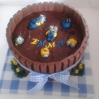 minions in a mud cake