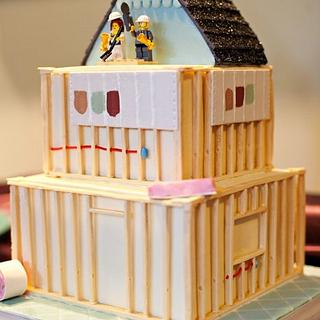 House Construction Cake - Cake by Laurie Clarke Cakes