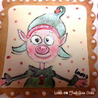 Christmas handpainted cookies