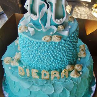Ballet sea shell tiered cake