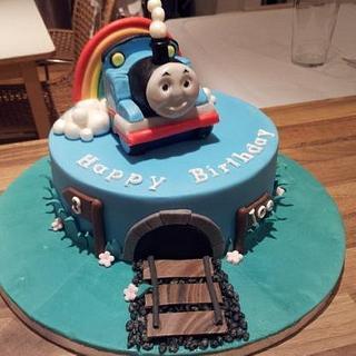 Thomas the Tank Engine - Cake by Rachel Nickson