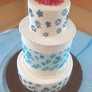 Daisy Inspired Wedding Cake