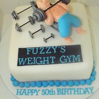 weight lifters cake